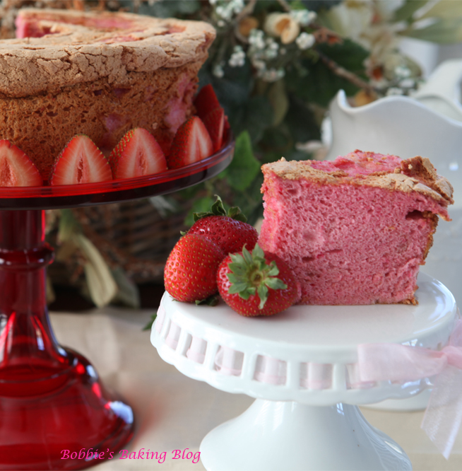 Back School Blues, Are Pink with Bobbie's Strawberry Angel Food Cake