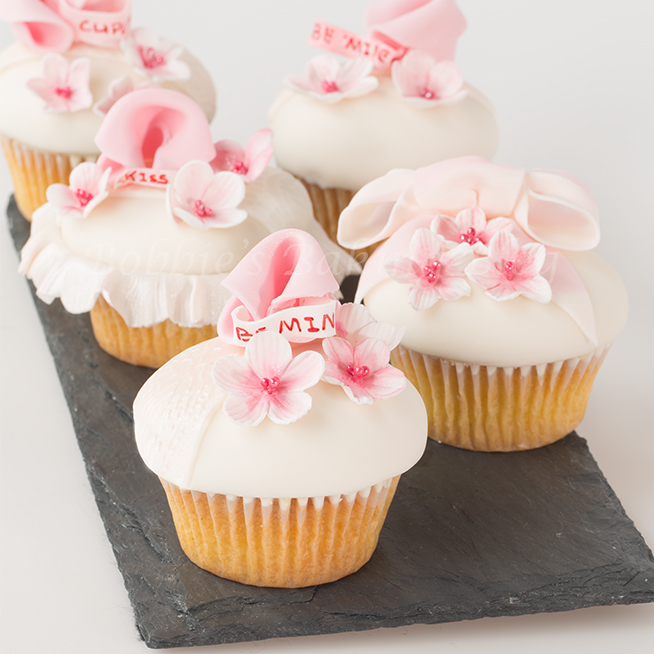 Cherry Blossom Fortune Cupcakes