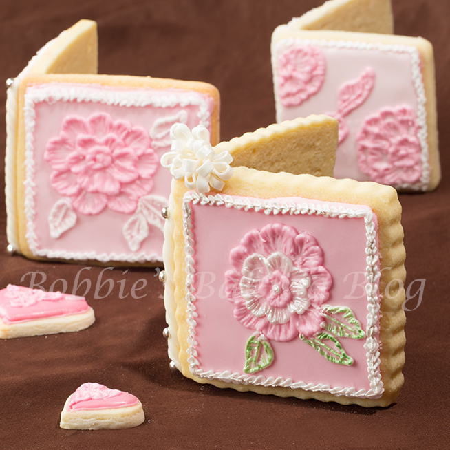 Brush Embroidery  Sugar Cookie Card