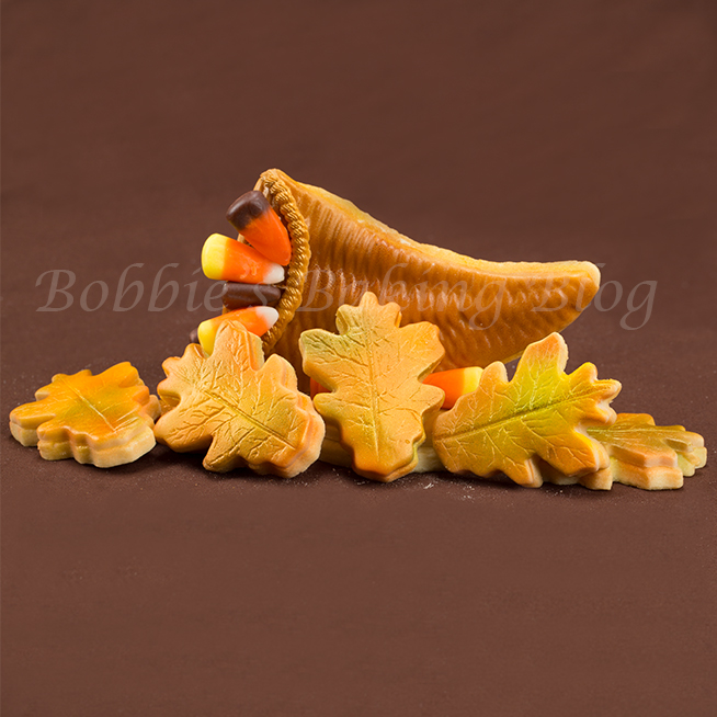 Airbrushed Sugar Cookie Oak Leaves