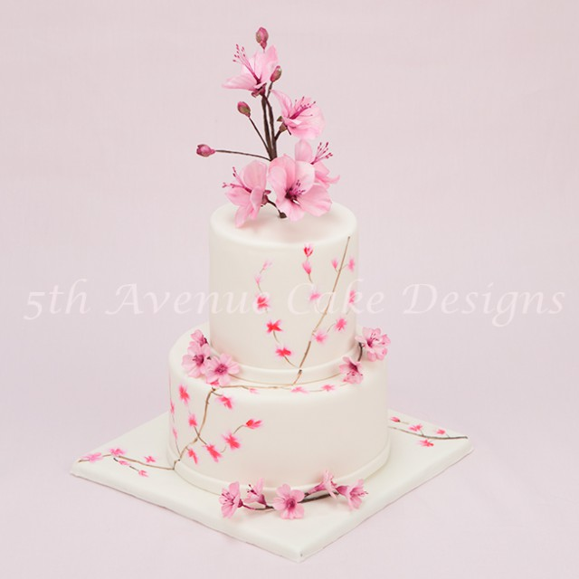 Balancing Cake Trends with Timeless Traditional Designs: Cherry Blossom Cake