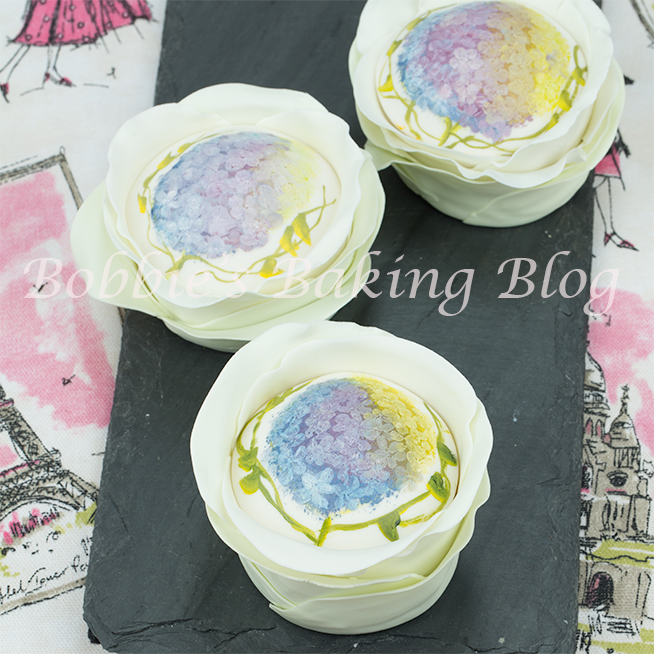 Hand Painted Petal Cake