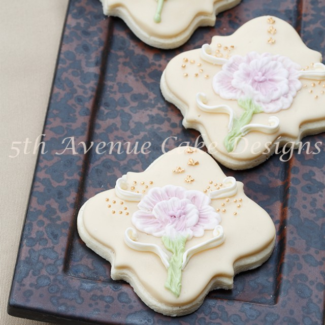Ombre Shaded Brush Embroidery Cookies