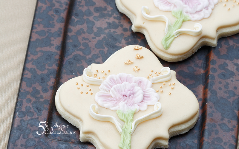 Shaded Ombre Brush Embroidery Cookie Art Lesson