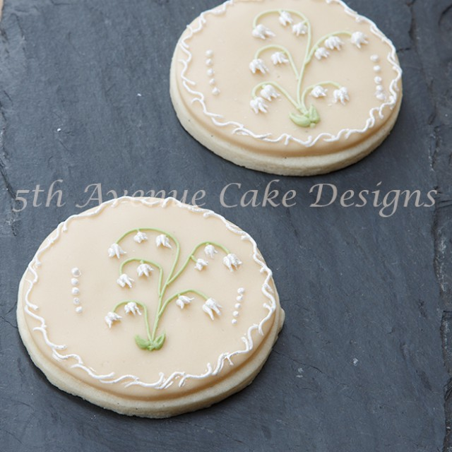 Royal Icing Lily of the Valley Sugar Cookies