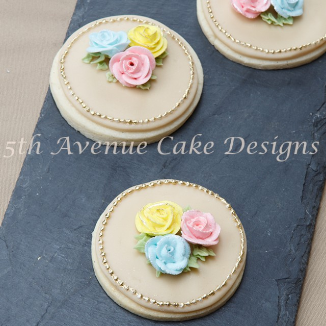 Royal Icing Rose Garden Sugar Cookie