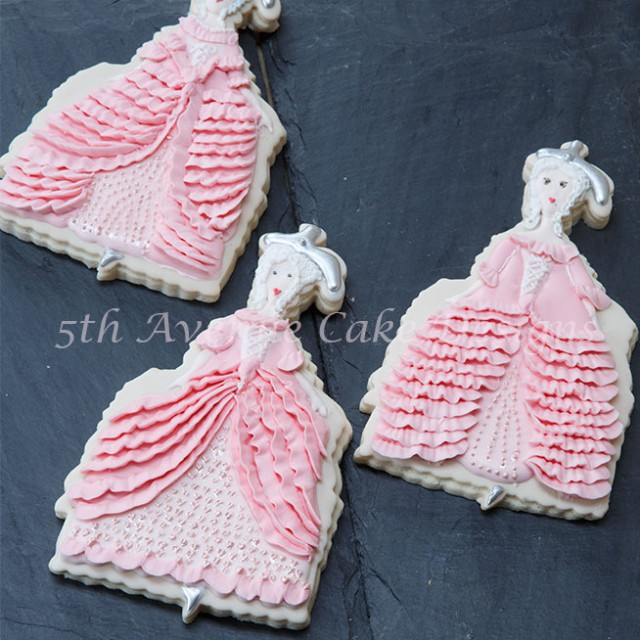 Marie Antoinette Haute Couture Cookies