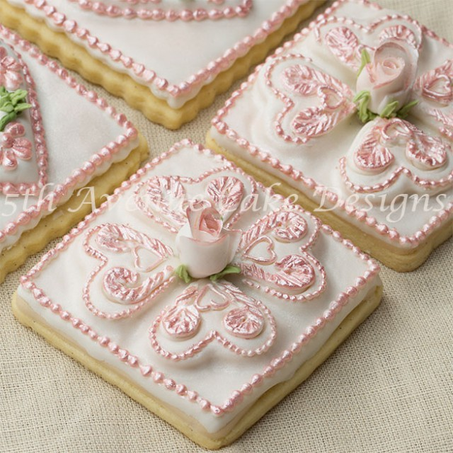 Romantic Tufted Heart Cookies