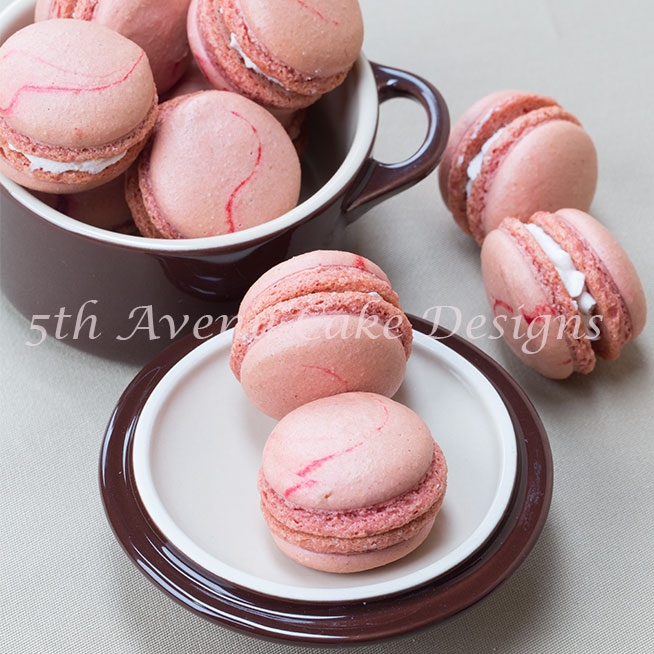 Strawberry Swirl French Macarons