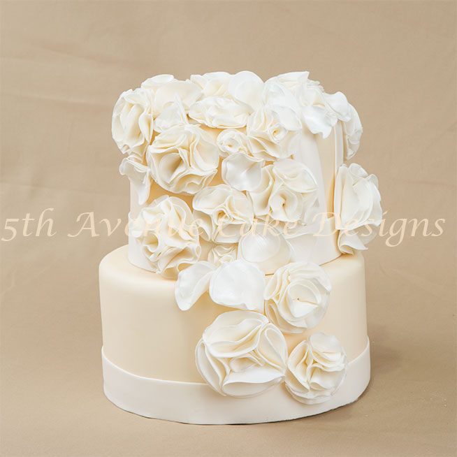 Fashion Fondant Inspired Wedding Cake