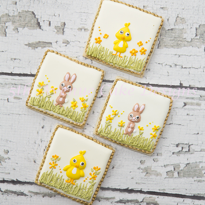 How To Decorate Easter Bunny and Chick Cookies!