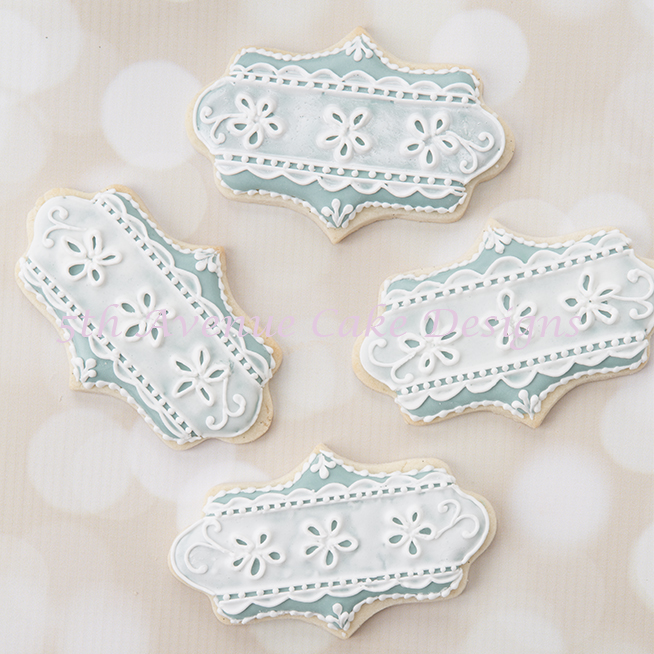 Romantic Royal Icing Eyelet Lace Cookies
