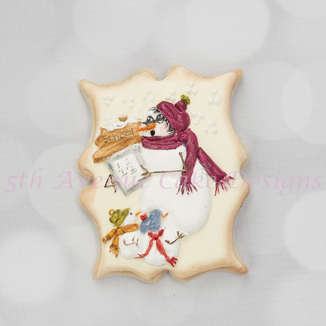 Winter Snow People Cookies