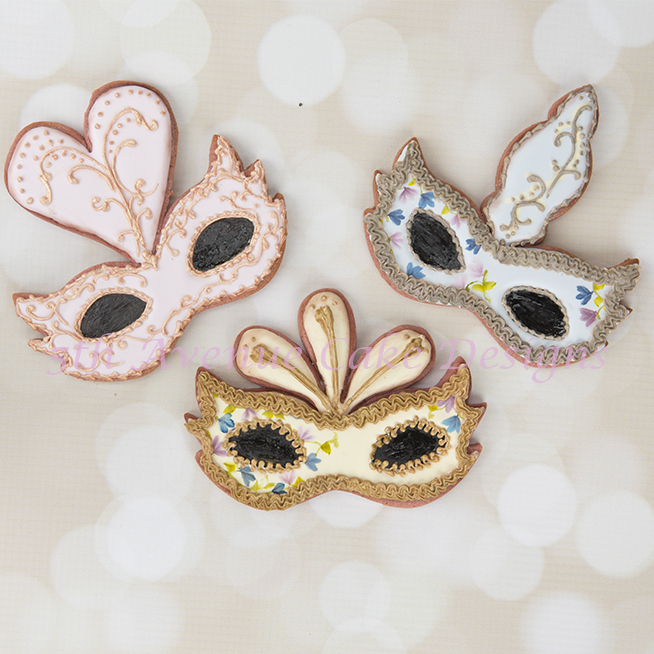 Venetian Mask Cookies for Mardi Gras