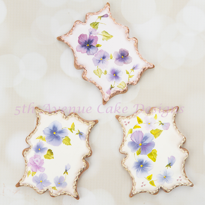 Hand Painted Pansy Cookies 🖌️🎨💐