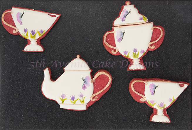 Vintage Hand Painted Tea Set Cookies🎨🖌️🦋🍵🌷