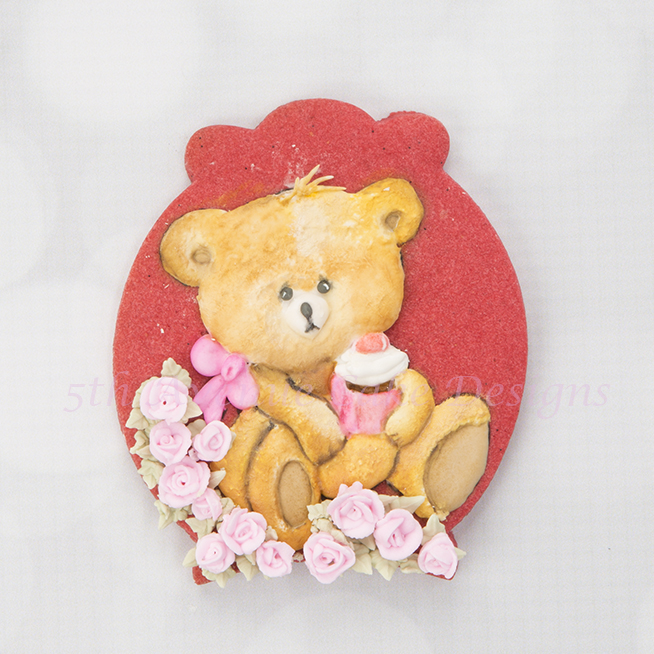 Teddy Bear Cookie with Texture and Volume  🐾🐨🌹