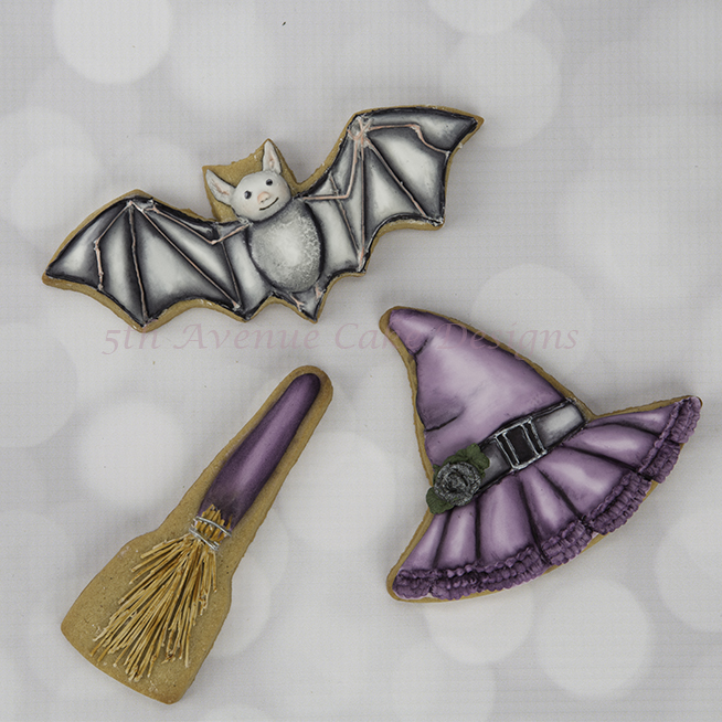 Decorated Dimensional Vintage Halloween Cookies🍬🦇💀