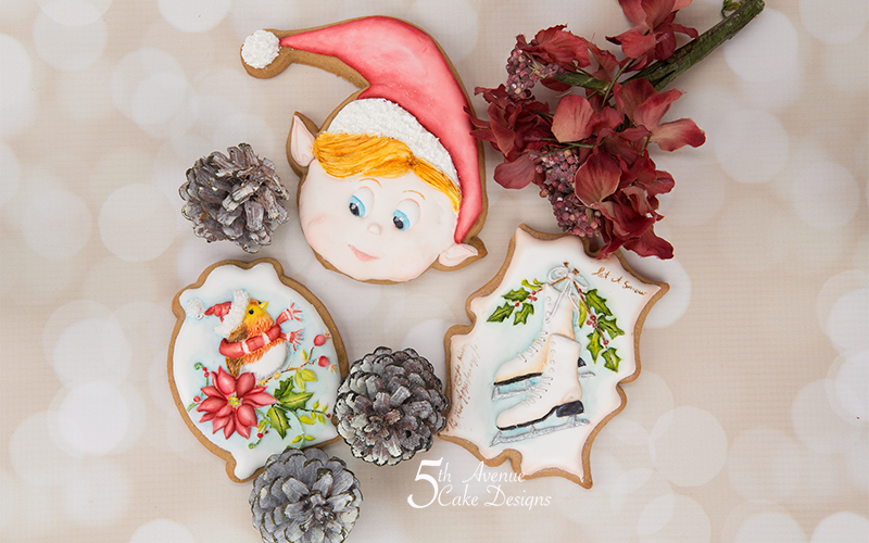 Holiday Cookie Exchange Cookie Art Lesson 🎁⛸️🕊️