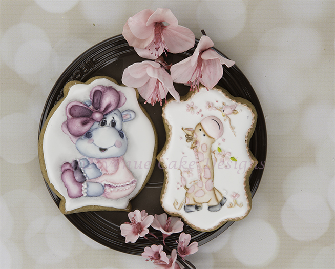 Adorable Royal Icing Dimensional Baby Animal Cookies 🦒🐮👶