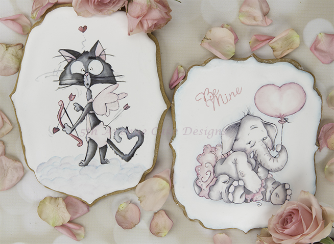 Sweet Valentines Cookies Cards 💝🐘🏹