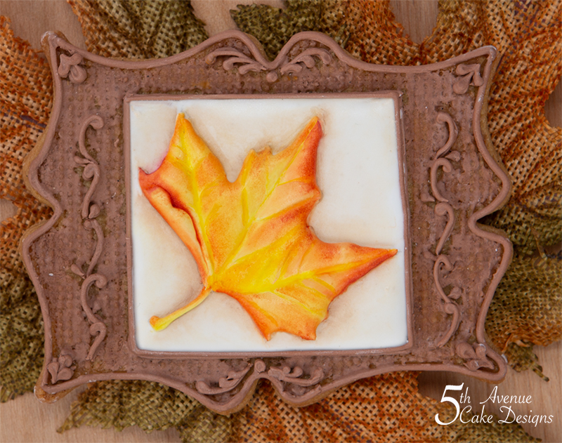 Antique Maple Leaf Cookie Frame