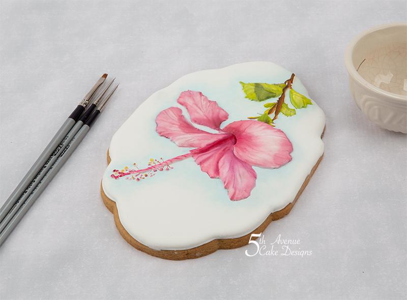 Majestic Hibiscus Flower Cookie 🌺🍃🎥