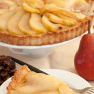 Thanksgiving Count Down, Caramelized Almond-Pear Tart Finale