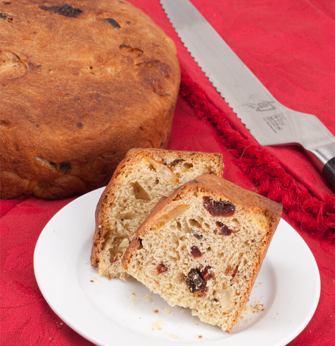Panettone with Rum Soaked Glacé Fruit