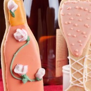 Champagne and Roses Sugar Cookies; A Sweet Romantic Treat