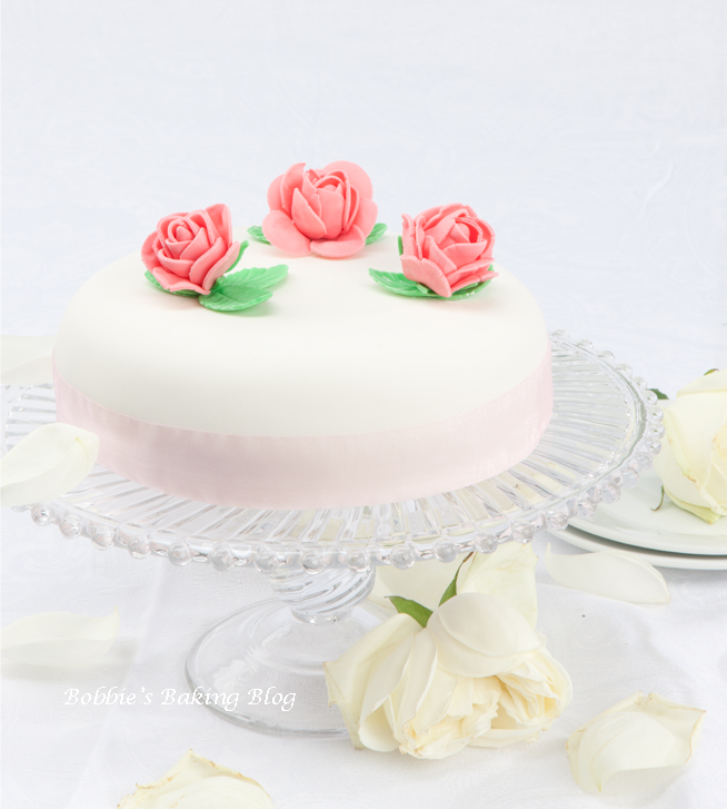 Ribbon and Rose, Fondant and Marzipan