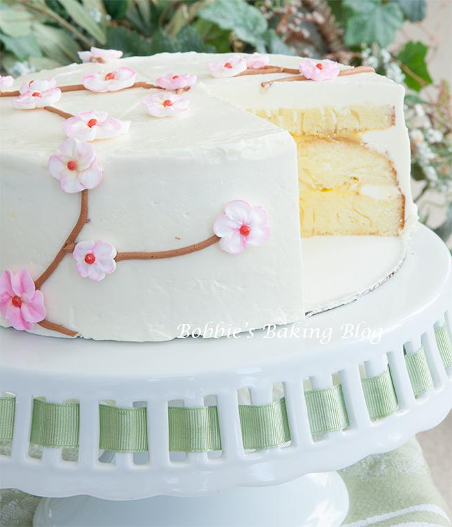 Summertime Cherry Blossom Cake Bobbies Baking Blog