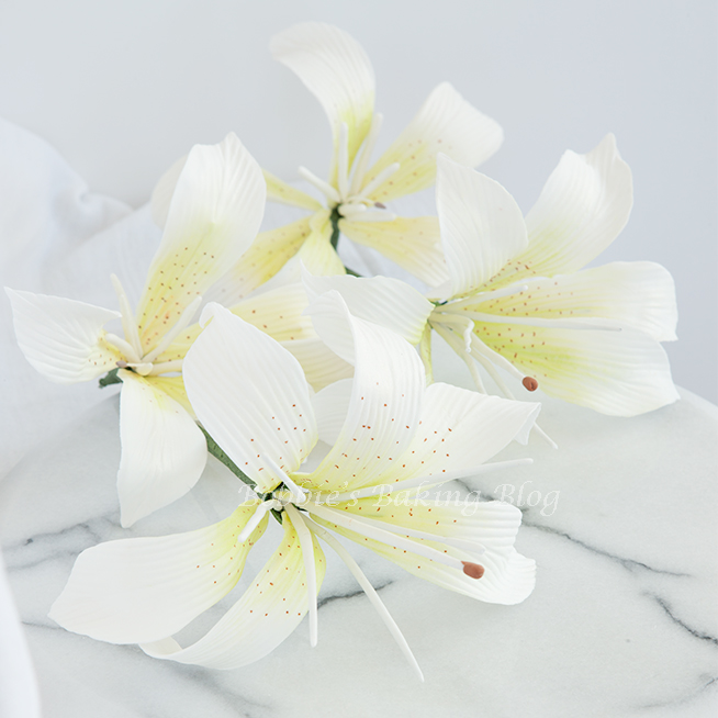 Tiger Lily Gumpaste Flowers | Bobbies Baking Blog