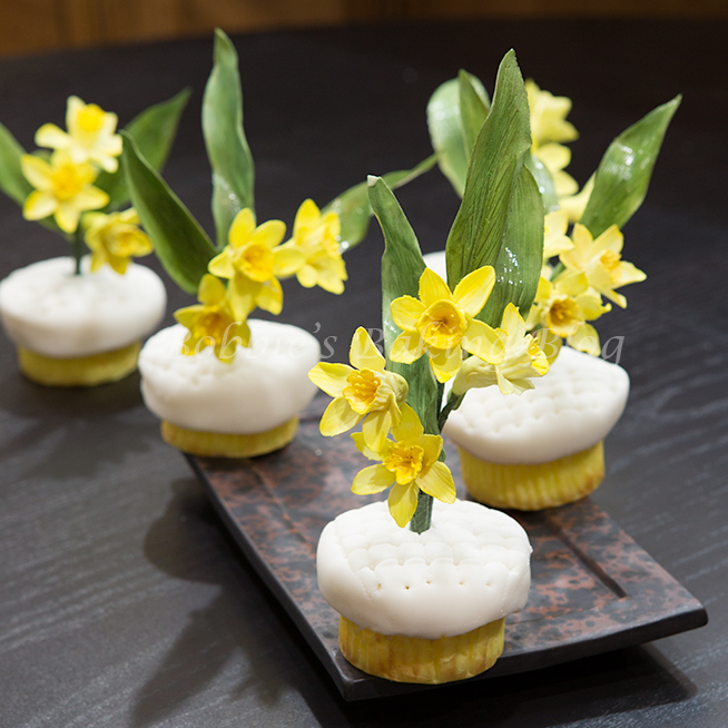 Daffodil Cupcakes For A Sweet Wedding Bobbies Baking Blog