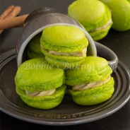 Fleur de Sel Caramel Apple Macarons, The Perfect Halloween Treat