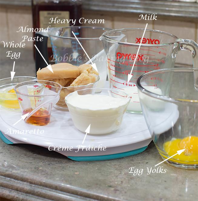 almond crème custard