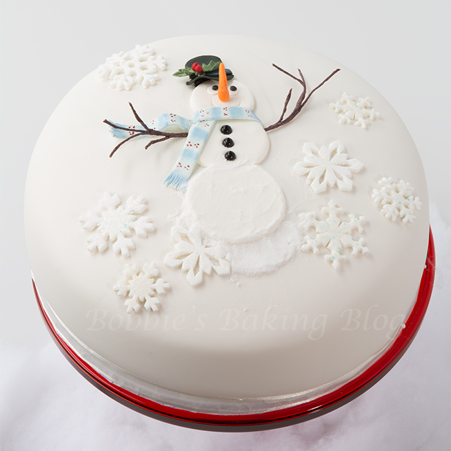  snowman gumpaste cake tutorial