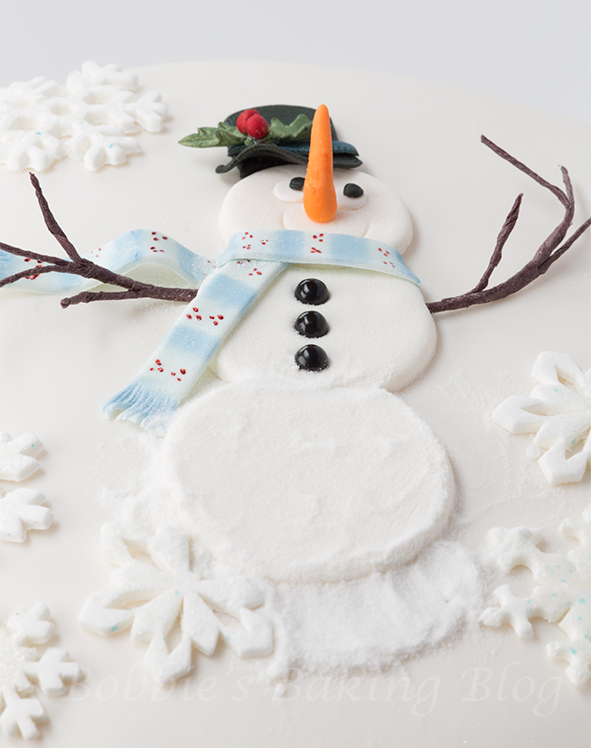 Snowman cake tutorial 