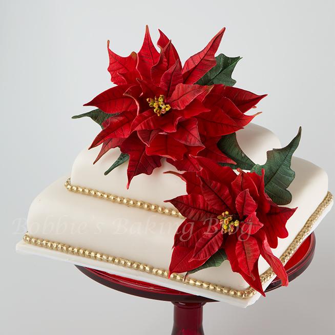 perfect poinsettia cake