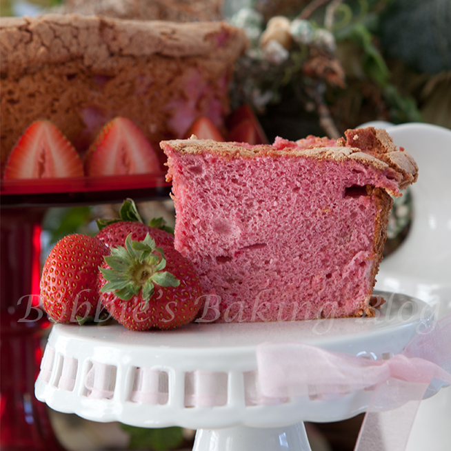 Sweet Strawberry Angel Food Cake