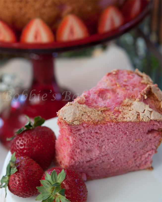 Heart shaped Angel Food Cake