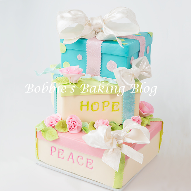 A gift box cake tutorial bobbies baking blog tiffany box cake tutorial negle Image collections