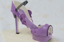 Purple Passion Fondant High Heel Shoe