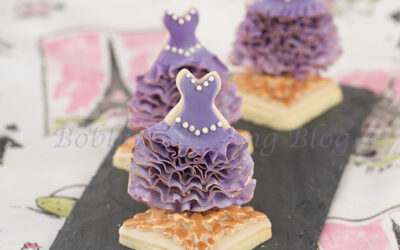 3-D Ruffled Ombre Dress Sugar Cookie