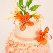 Flamboyant Mayflower Petal Cake