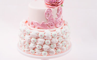 Fabric Fondant Billow Weave Cake