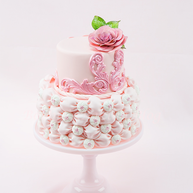 Fabric Fondant Wedding Cake Tutorial