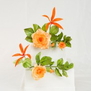 Sugar Paste Full Blown Rose Spray