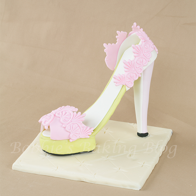 sugar paste/ fondant platform stiletto tutorial