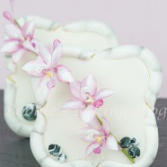Fondant Bamboo Sugar Cookie and Flowerpaste Asian Orchid Spray Tutorial